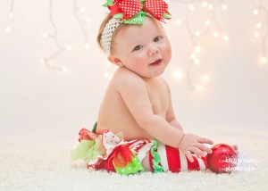 Baby's first christmas Session