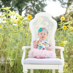 Avery Sunflower & Wildflower Plant City Session | 6 Month Session | Tampa Wedding Photographer Kristen Marie Photography